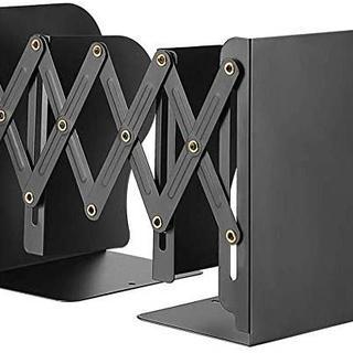 本立て ブックスタンド 伸縮自在 金属製 卓上収納 仕切りスタンド(オフィス収納)
