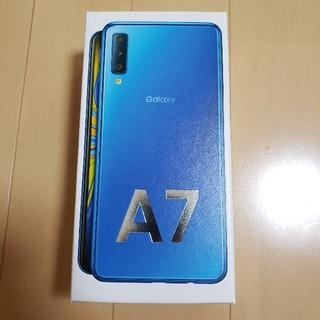 ギャラクシー(Galaxy)のSIMフリー Galaxy A7 64GB ブルー 楽天(スマートフォン本体)