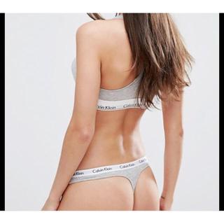 Calvin Klein - Sサイズ グレーブラとTバック カルバンクライン