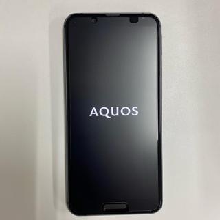 アクオス(AQUOS)のsimフリー AQUOS sense3 SH-02M 中古美品 ブラック(携帯電話本体)