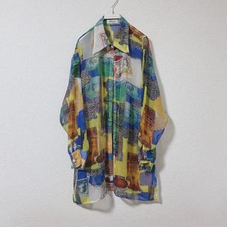 マルタンマルジェラ(Maison Martin Margiela)のvintage see through shirt (シャツ/ブラウス(長袖/七分))