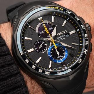 セイコー(SEIKO)の希少 新品セイコー コーチュラ ジミージョンソン ソーラー1/20秒クロノ腕時計(腕時計(アナログ))