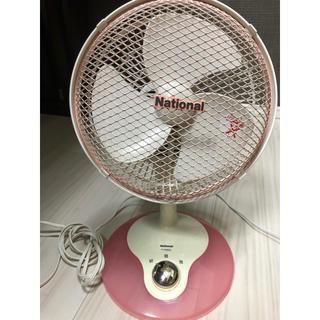 パナソニック(Panasonic)のNational (Panasonic)ミニ卓上扇風機 ピンク(扇風機)