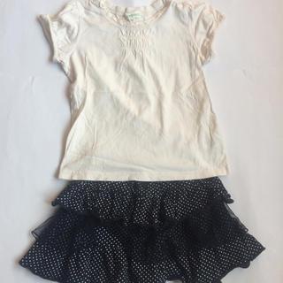 サンカンシオン(3can4on)の3can4on半袖カットソー 西松屋スカート 110cm(Tシャツ/カットソー)