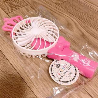 バンダイナムコエンターテインメント(BANDAI NAMCO Entertainment)のキンプリ風 扇風機 (ピンク)(アイドルグッズ)