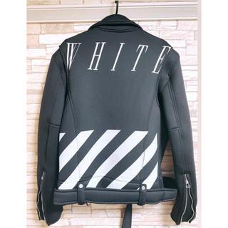 オフホワイト(OFF-WHITE)のオフホワイト off-white 非売品ジャケット(ライダースジャケット)