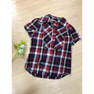 ヴィヴィアンウエストウッド(Vivienne Westwood)のチェックシャツ♡vivienne westwood (シャツ/ブラウス(半袖/袖なし))