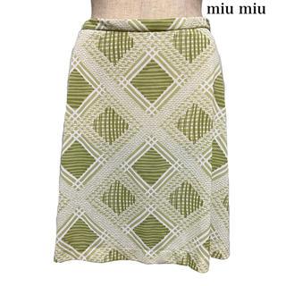 miumiu - miu miu ミュウミュウ スカート 台形スカート ミニスカート