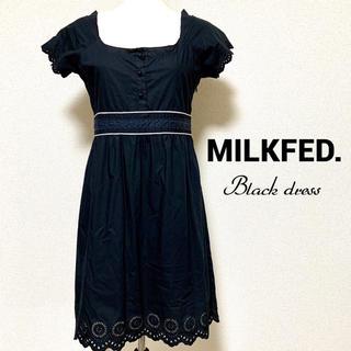 ミルクフェド(MILKFED.)のMILKFED.  ブラック ワンピース ミルクフェド(ひざ丈ワンピース)