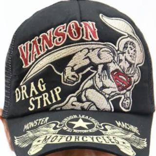 バンソン(VANSON)の超特価 値下げ バンソン  VANSON スーパーマンコラボ 黒/黒 (キャップ)