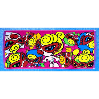 ヒステリックミニ(HYSTERIC MINI)のヒスミニ☆正規品☆新品☆フェイスタオル☆手拭き☆汗拭き☆ピンク(タオル/バス用品)