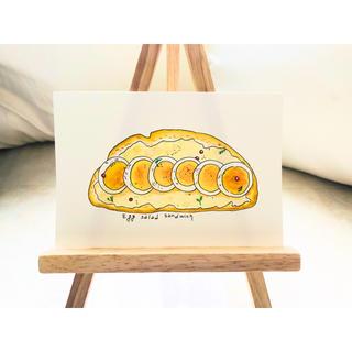 たまごサラダのオープンサンド【原画 水彩画】(絵画/タペストリー)