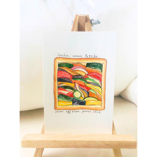 夏野菜のスライストースト【原画 水彩画】(雑貨)