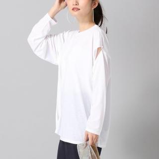 ジーナシス(JEANASIS)のアームスラッシュロングスリーブT(Tシャツ/カットソー(七分/長袖))