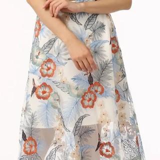 グレースコンチネンタル(GRACE CONTINENTAL)の専用です🎀グレースコンチネンタルボタニカルバード刺繍スカート38(ロングスカート)