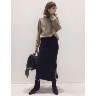 アパルトモンドゥーズィエムクラス(L'Appartement DEUXIEME CLASSE)のアパルトモン   人気完売スカート  34  ブラック(ロングスカート)