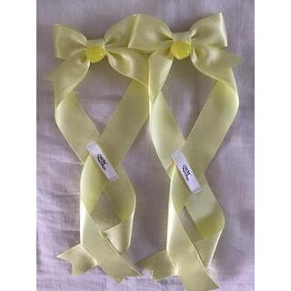 アマベル(Amavel)のLotus ribbon 黄色(バレッタ/ヘアクリップ)