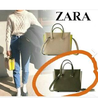 ザラ(ZARA)のZARA  マルチコンパートメントミニトートバック(ショルダーバッグ)