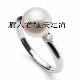 タサキ(TASAKI)の★タサキ・あこや真珠リング★本物8.5mm18KWG★エレガント(リング(指輪))