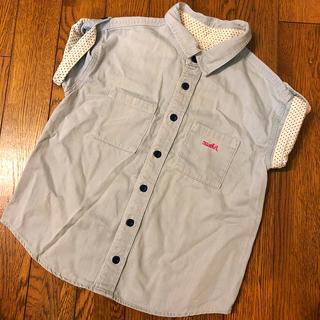 エックスガール(X-girl)のx-girl エックスガール デニムシャツ 110(Tシャツ/カットソー)