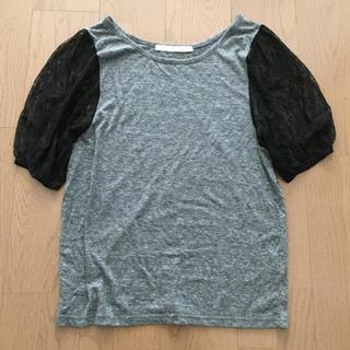シップス(SHIPS)のレース袖Tシャツ(Tシャツ(半袖/袖なし))