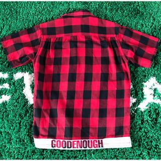グッドイナフ(GOODENOUGH)のグッドイナフ ブロックライン ネルシャツ 赤黒(シャツ)
