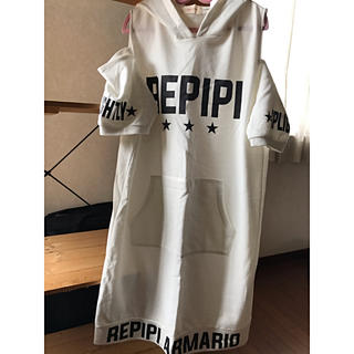 repipi armario - レピピアルマリオ白ワンピース160サイズM