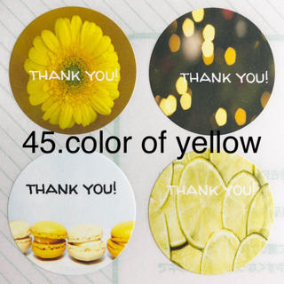 45.color of yellow【thank you シール48枚】(カード/レター/ラッピング)