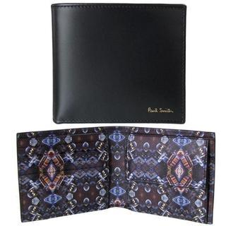 ポールスミス(Paul Smith)の新品箱無しポールスミスマルチクーパー折財布万華鏡黒入手困難な1品(折り財布)
