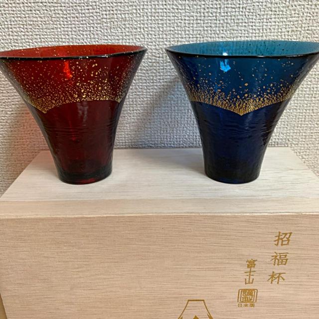 東洋佐々木ガラス(トウヨウササキガラス)の招福杯 富士山  ペアグラス インテリア/住まい/日用品のキッチン/食器(グラス/カップ)の商品写真