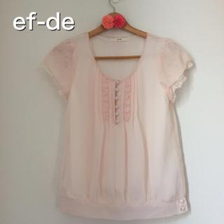 エフデ(ef-de)の美品♡エフデ ブラウス(シャツ/ブラウス(半袖/袖なし))