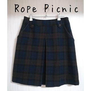 ロペピクニック(Rope' Picnic)の美品 Rope Picnic(ロペピクニック) 台形 チェックスカート(ミニスカート)