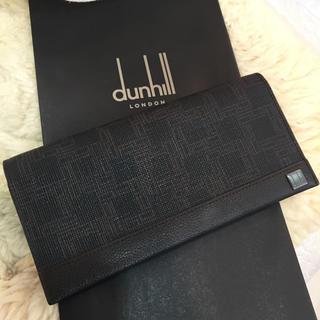 ダンヒル(Dunhill)のダンヒル 二つ折り長財布 ダークブラウン(長財布)