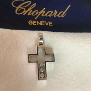 ショパール(Chopard)のショパール ハッピーダイヤモンド クロストップ K18WG(ネックレス)