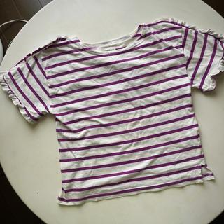 チャオパニックティピー(CIAOPANIC TYPY)のCIAOPANIC TYPY  袖フリルTシャツ  140(Tシャツ/カットソー)