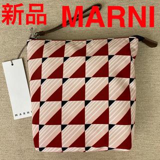 マルニ(Marni)の新品 MARNI ジオメトリック 総柄 ポーチ バッグインバッグ(ポーチ)