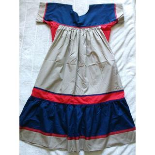 842 ハワイ ムームー fashions variety M~Lサイズ(ロングワンピース/マキシワンピース)