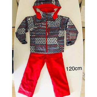 DESCENTE - DESCENTE レッド スキーウェア スーツ120cm