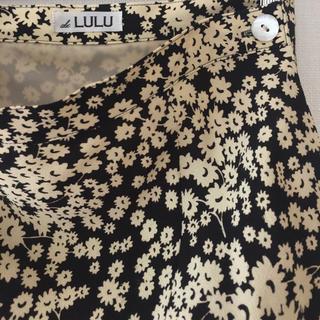 エディットフォールル(EDIT.FOR LULU)のedit.for lulu *フラワーバイアスマキシスカート*ブラック*36(ロングスカート)