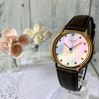 クリスチャンディオール(Christian Dior)の【美品】Christian Dior ディオール 腕時計 ボーイズ 12Pダイヤ(腕時計(アナログ))