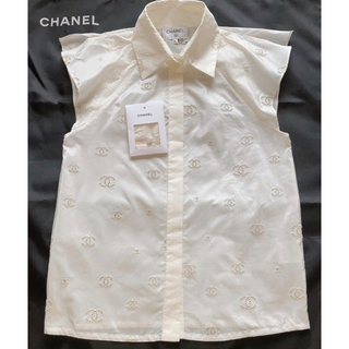 シャネル(CHANEL)のシャネル❤2019   シルク ブラウス (シャツ/ブラウス(半袖/袖なし))