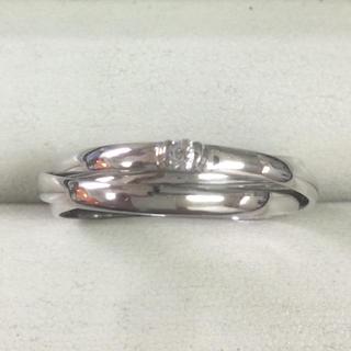★サイズ21号★プラチナPt900ダイヤモンド3連リング・0.06★甲丸タイプ★(リング(指輪))