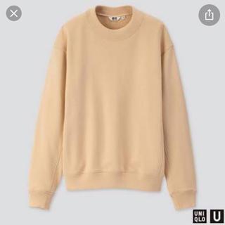 ユニクロ(UNIQLO)のユニクロユー  スウェットクルーネックシャツ ベージュ 新品 ユニクロ(トレーナー/スウェット)