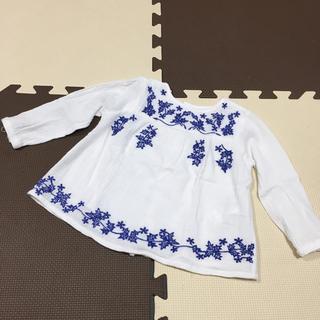 ザラキッズ(ZARA KIDS)のzara babygirl ガーゼ素材刺繍チュニック92cm  (ブラウス)