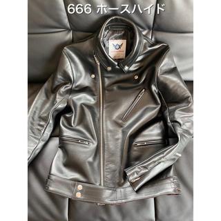シックスシックスシックス(666)の666 LJM-8 タイトフィット フロントフラップ レザーライダースジャケット(ライダースジャケット)