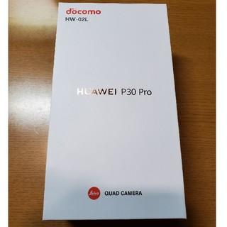エヌティティドコモ(NTTdocomo)の(未使用品)HUAWEI P30 Pro Black (SIMロック解除済)(スマートフォン本体)