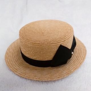 ハニーミーハニー(Honey mi Honey)の【美品】HONEYMIHONEYカンカン帽(麦わら帽子/ストローハット)