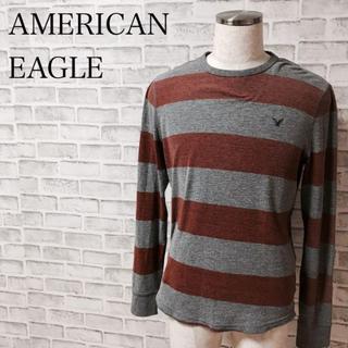 アメリカンイーグル(American Eagle)のアメリカンイーグル ボーダー ロンT 長袖Tシャツ 古着 メンズ M(Tシャツ/カットソー(七分/長袖))