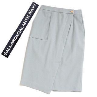 ガリャルダガランテ(GALLARDA GALANTE)のGALLARDAGALANTE NAVY サイドポケットタイトスカート(ひざ丈スカート)