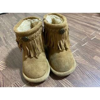 子供 靴 ブーツ ムートンブーツ 女の子 中古 14cm(ブーツ)